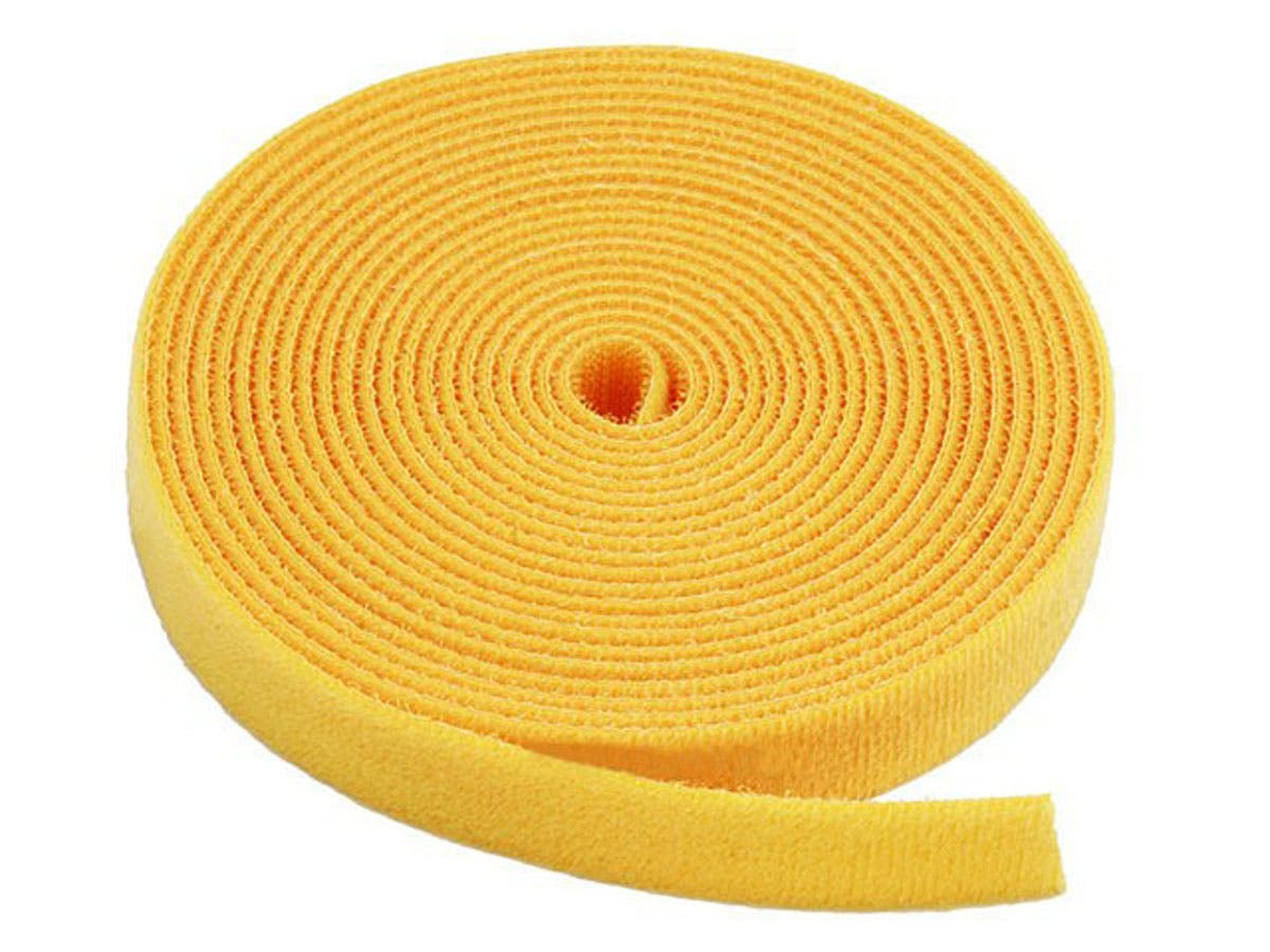 Hook and Loop Fastening Tape, 5 yards/roll, 0.75 in, Yellow