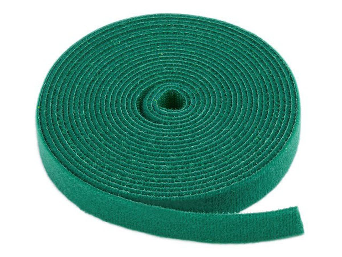 Hook and Loop Fastening Tape, 5 yards/roll, 0.75 in, Green