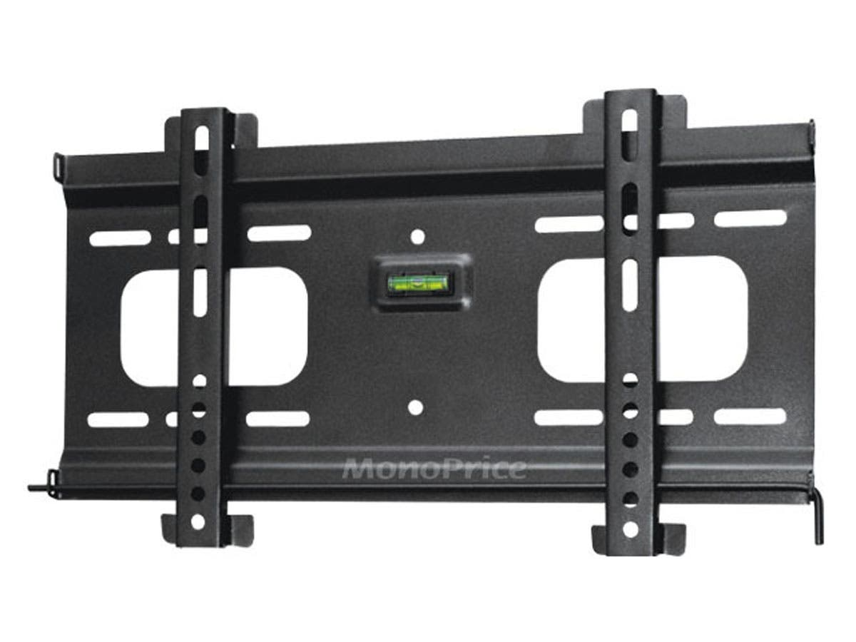 Monoprice Ultra-Slim Fixed TV Wall Mount Bracket - For TVs 32in to 55in, Max Weight 165 lbs, VESA Patterns Up to 400x200, Security Brackets, Works with Concrete & Brick-Large-Image-1