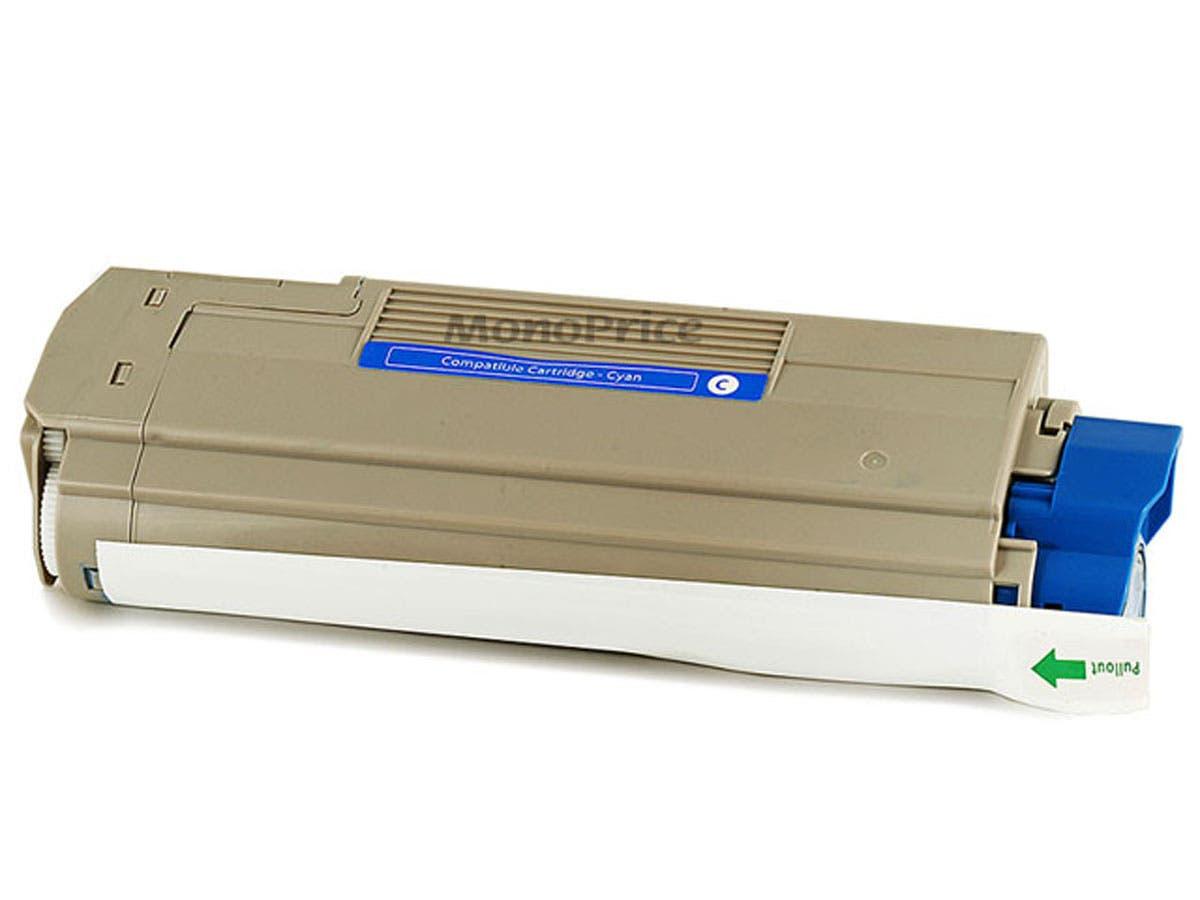 MPI Remanufactured Laser Toner Cartridge for OKIDATA C5550n, C6100Ldn (CYAN)