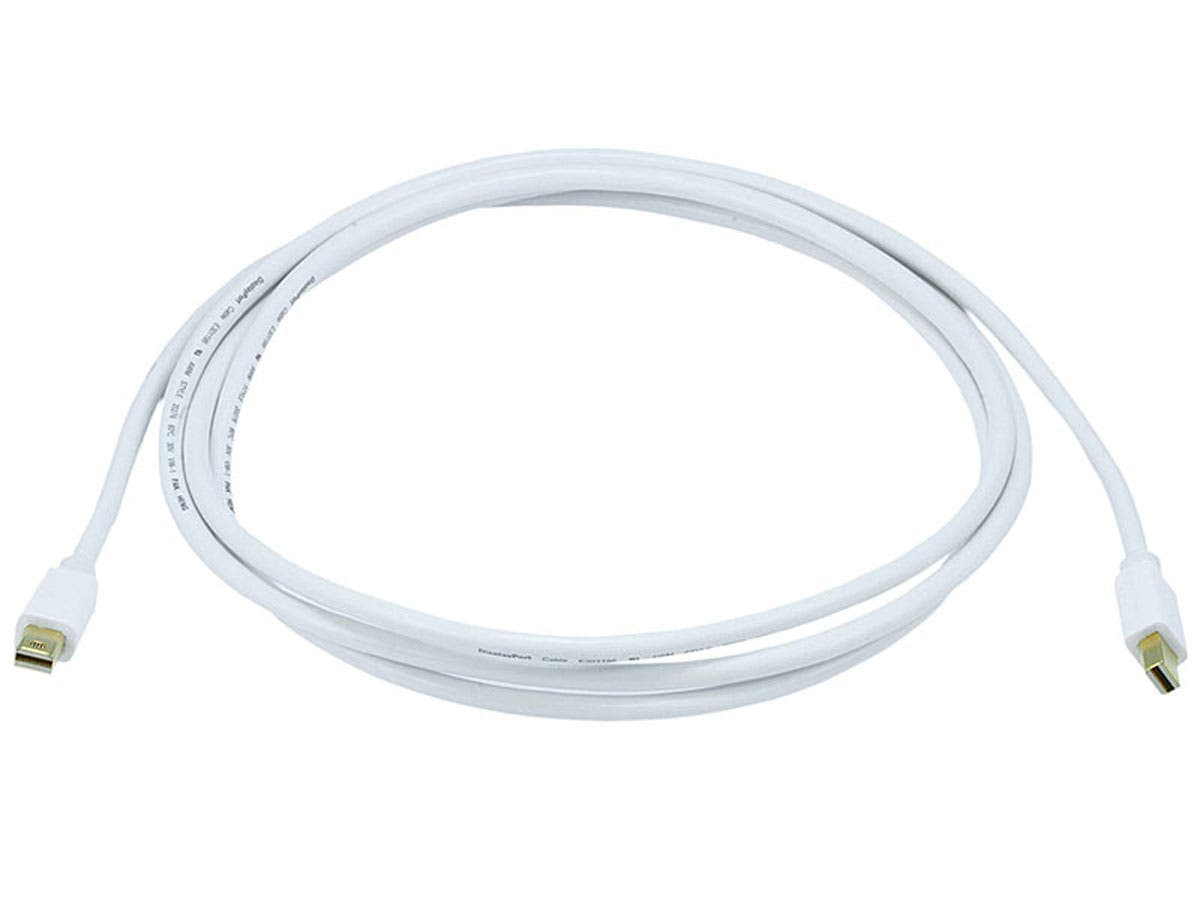 6ft 32AWG Mini DisplayPort Cable - White