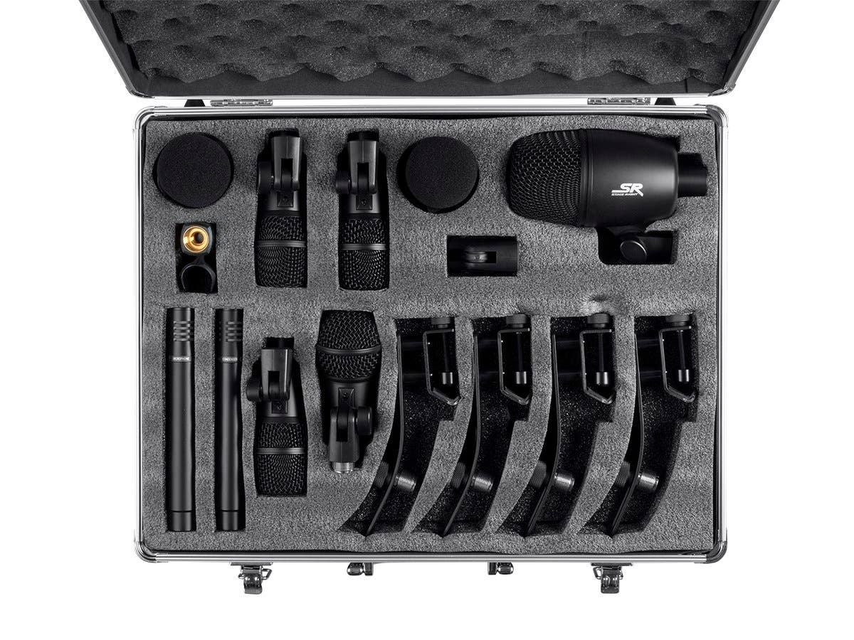 Stage Right by Monoprice 7-piece Drum and Instrument Mic Kit with Mounts and Case-Large-Image-1