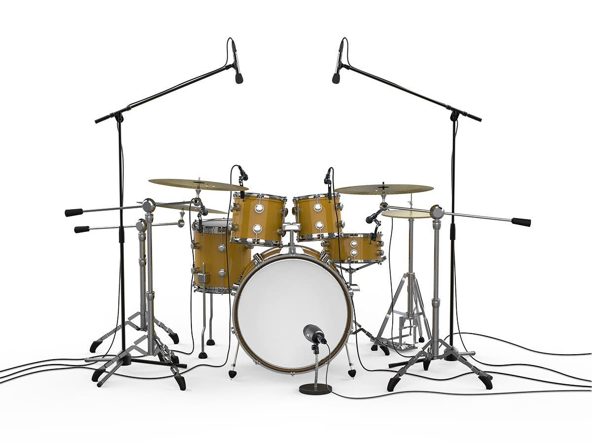 stage right by monoprice 7 piece drum and instrument mic kit with mounts and case. Black Bedroom Furniture Sets. Home Design Ideas