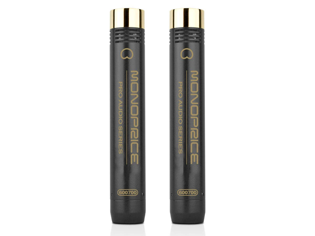 Monoprice Small-Diaphragm Condenser Microphones (Pair)-Large-Image-1