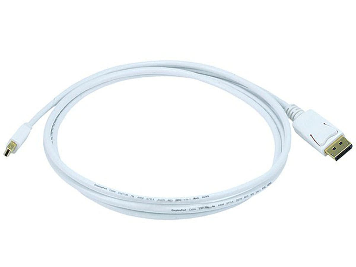 6ft 32AWG Mini DisplayPort to DisplayPort Cable - White