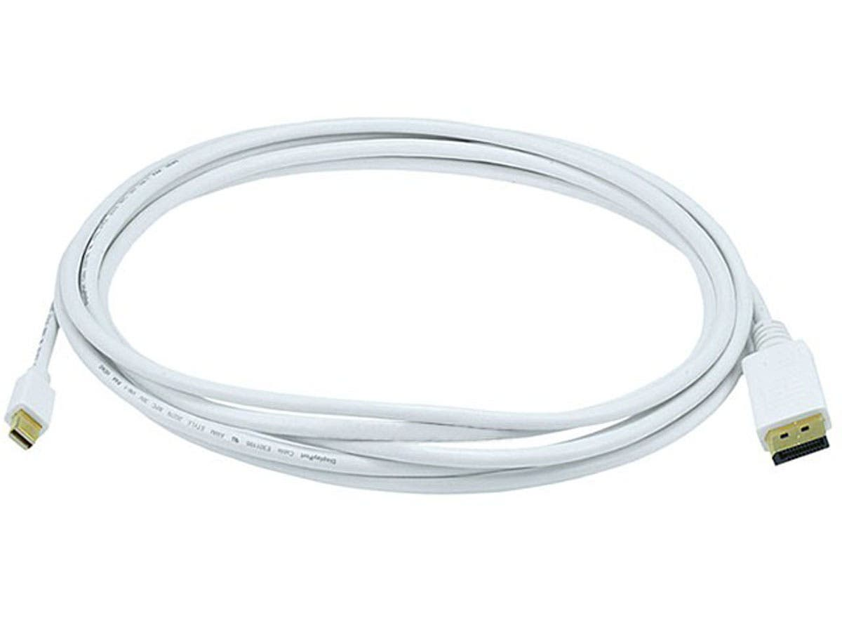 10FT 32AWG Mini DisplayPort to DisplayPort Cable - White