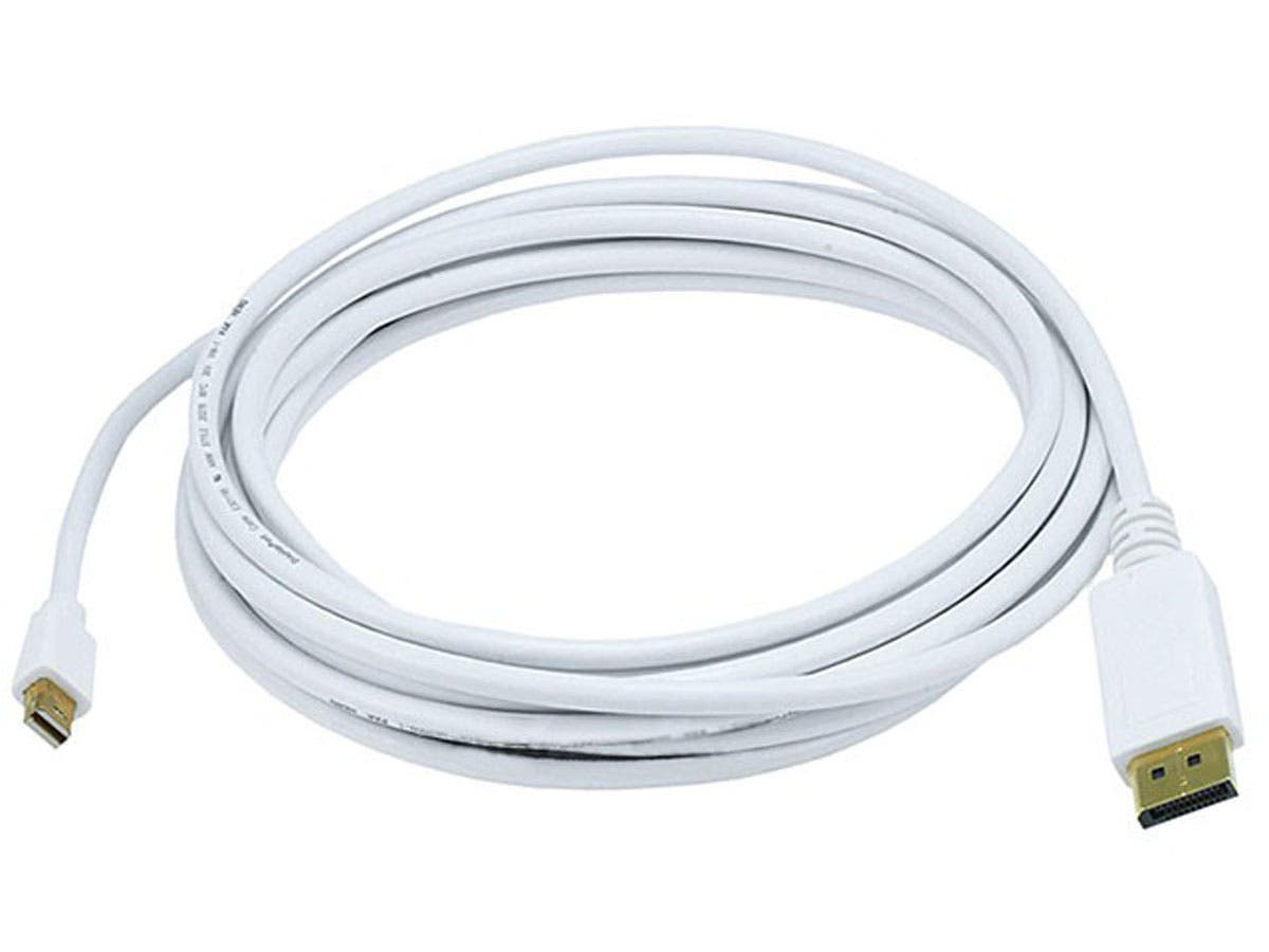 15FT 32AWG Mini DisplayPort to DisplayPort Cable - White