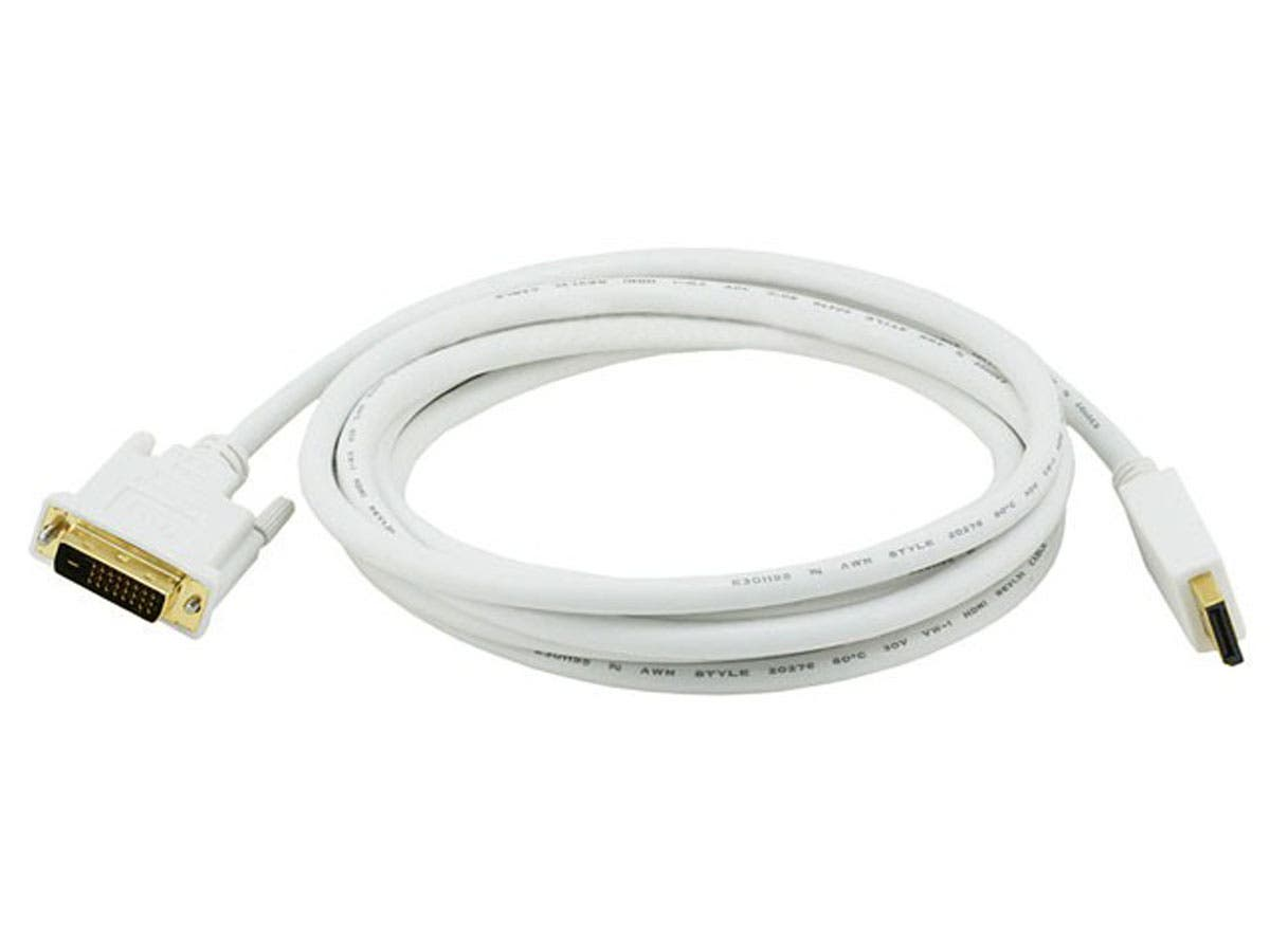 10ft 28AWG DisplayPort to DVI Cable - White
