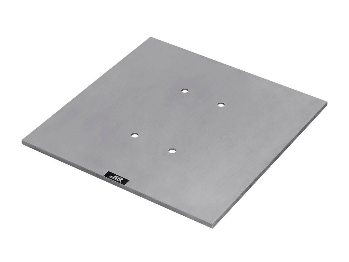 Stage Right 8in x 8in Lite Duty Box Truss Base Plate with Hardware