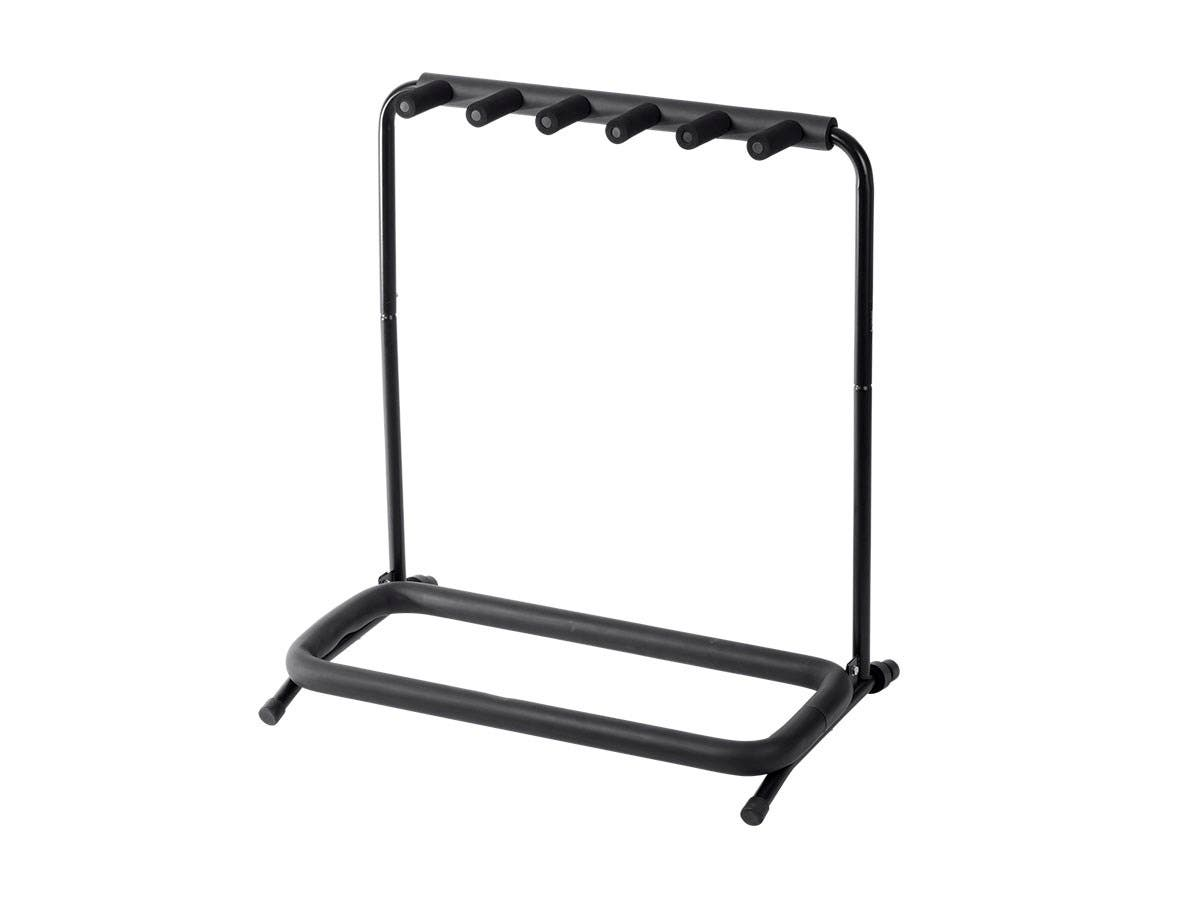 Stage Right by Monoprice Multi Guitar Folding Stand for 5 Acoustic and Electric Guitars or Bass Guitars - main image