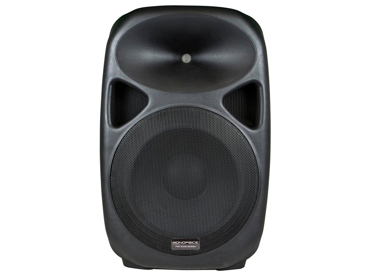 Stage Right 150-Watt 15-inch BiAmplified Powered PA Speaker