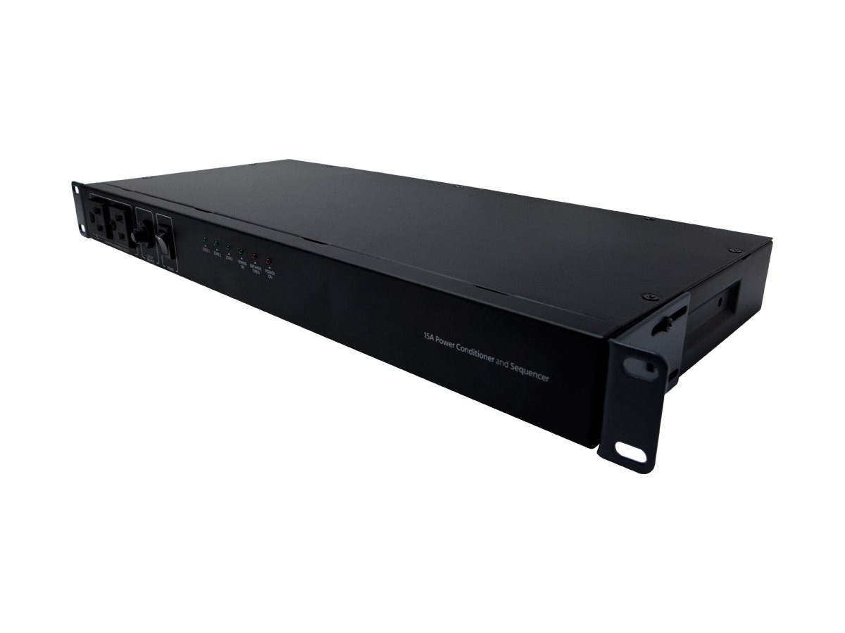 Monoprice 15A Power Conditioner and Sequencer with 8 Outlets and 3 Zones-Large-Image-1