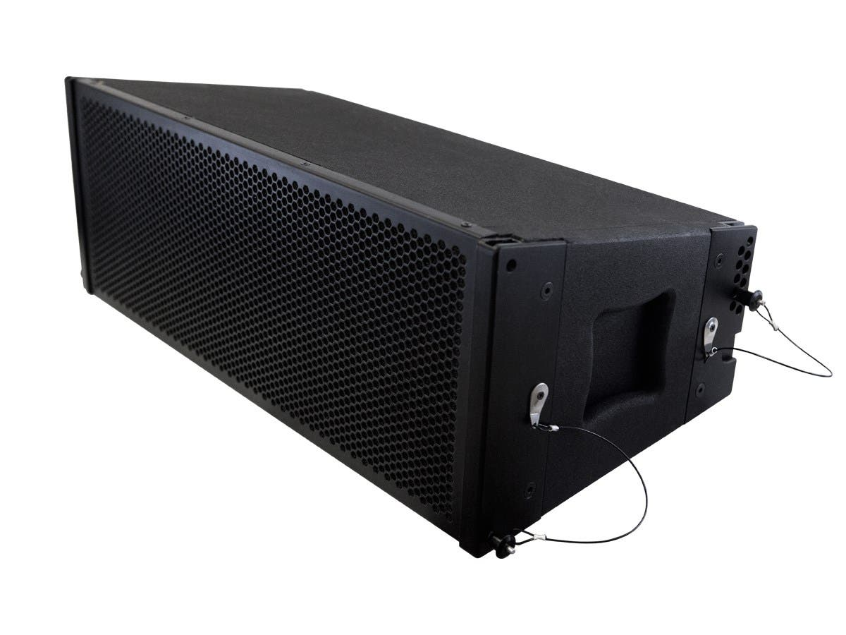 Stage Right by Monoprice MiniRay 652 Active Line Array Dual 6.5-inch with 1.5-inch Compression Driver 300W-Large-Image-1