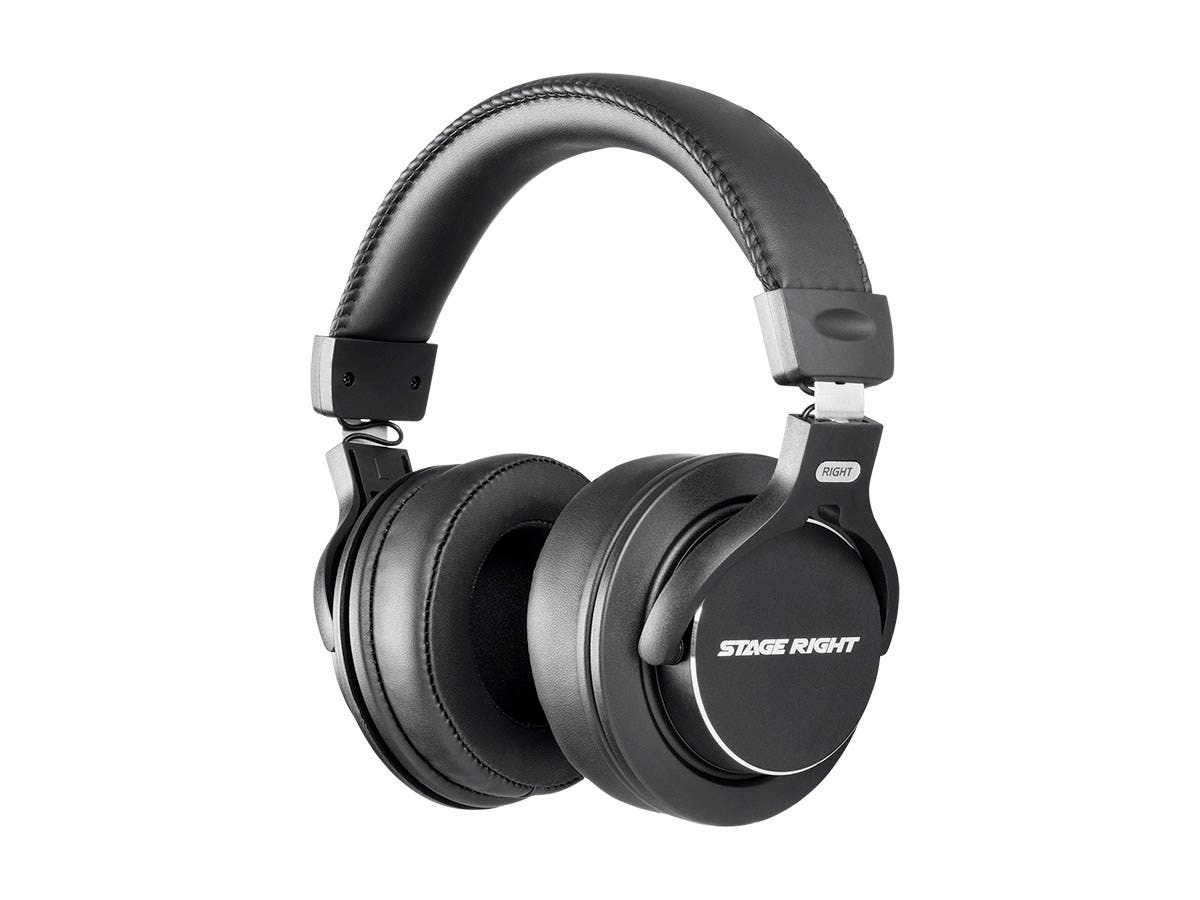 Stage Right by Monoprice Multimedia Studio Reference Monitor Headphones 53mm (Closed-back)-Large-Image-1