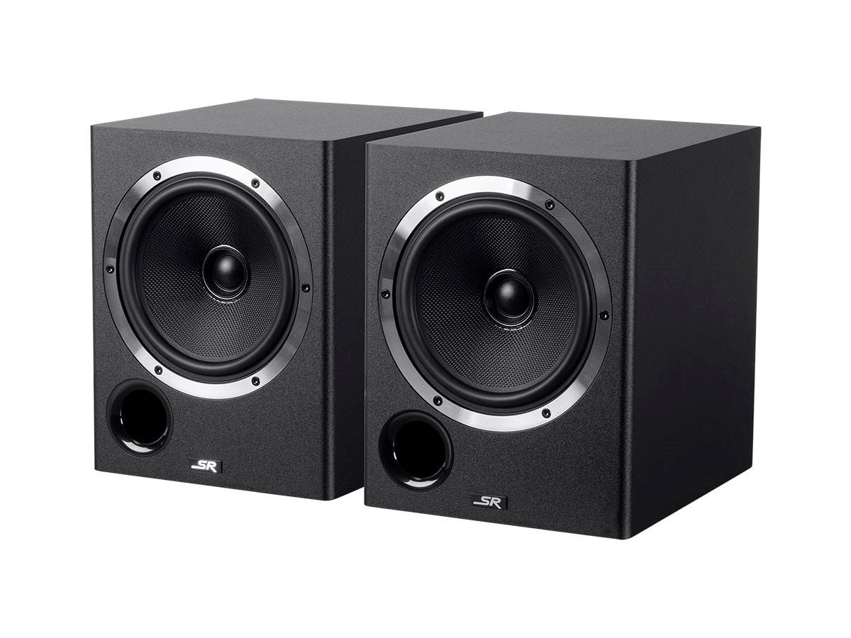 Monoprice 6.5-inch Powered Coaxial Studio Multimedia Monitor Speakers (pair)-Large-Image-1