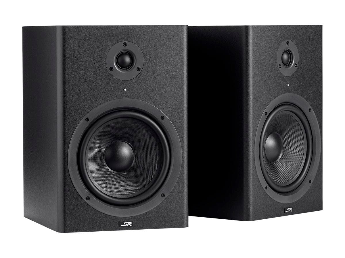 Monoprice 8-inch Powered Studio Multimedia Monitor Speakers (pair)-Large-Image-1