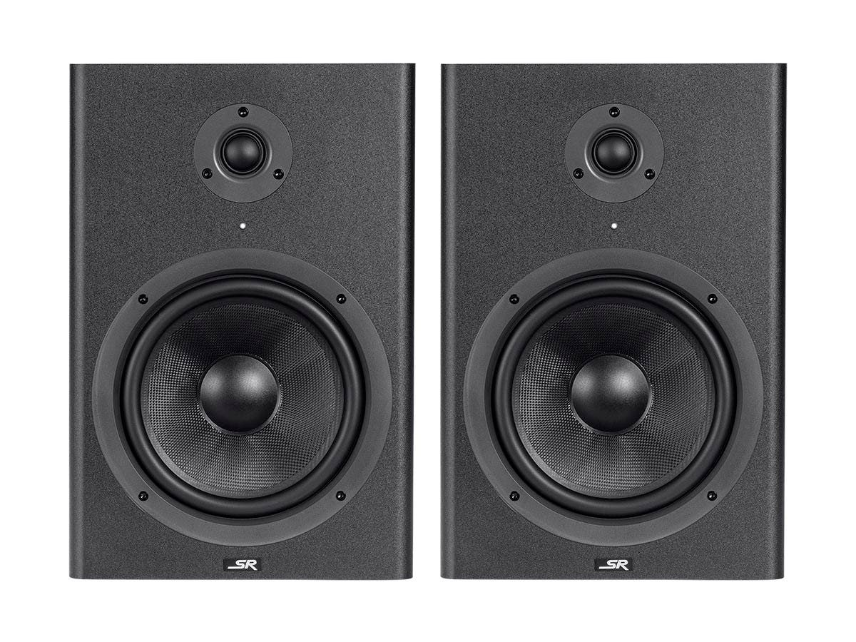 monoprice 8 inch powered studio multimedia monitor speakers pair. Black Bedroom Furniture Sets. Home Design Ideas