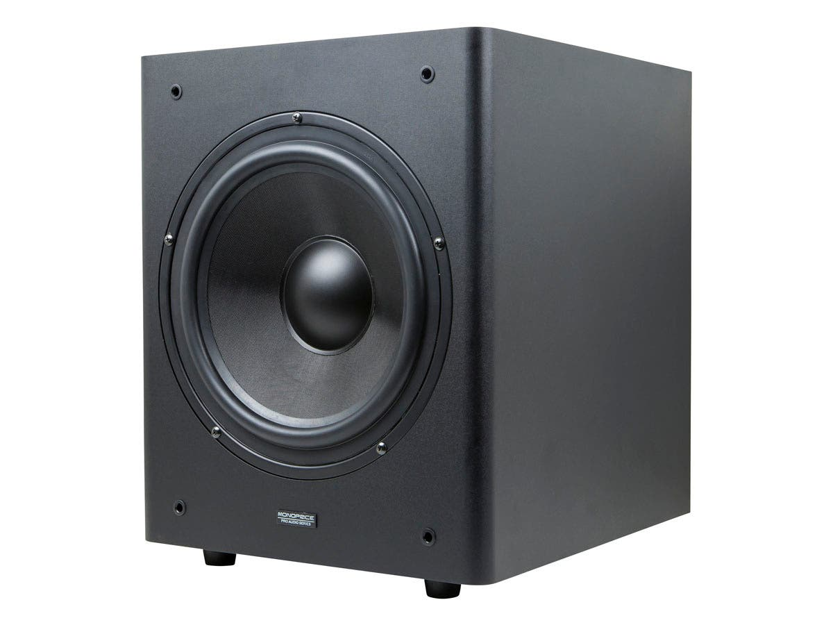 Monoprice 10-Inch Powered Studio Multimedia Subwoofer-Large-Image-1