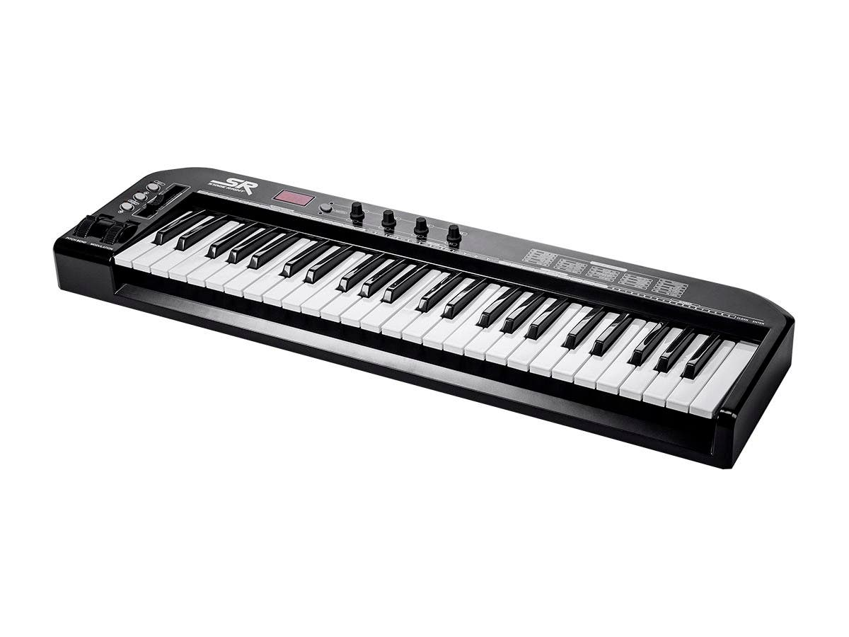 Stage Right by Monoprice 49-Key MIDI Keyboard Controller, Black-Large-Image-1