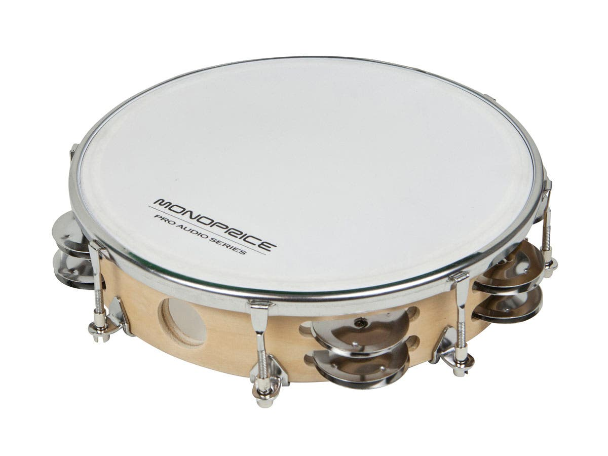 8-inch Tunable Maple Tambourine