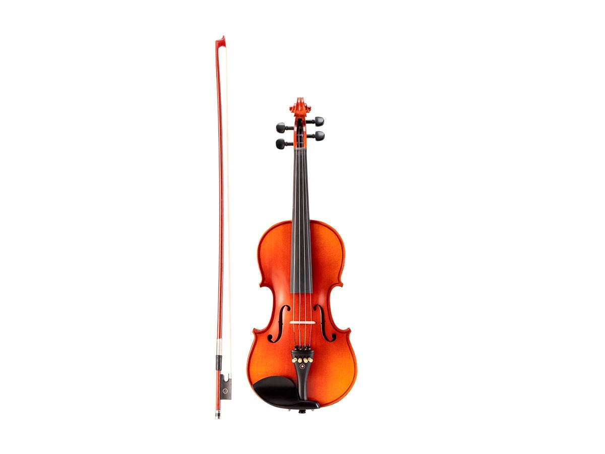 Stage Right Sonata by Monoprice 3/4 Flamed Maple Violin Outfit with Music Stand, Violin Stand, Case, Bow, and Rosin - main image