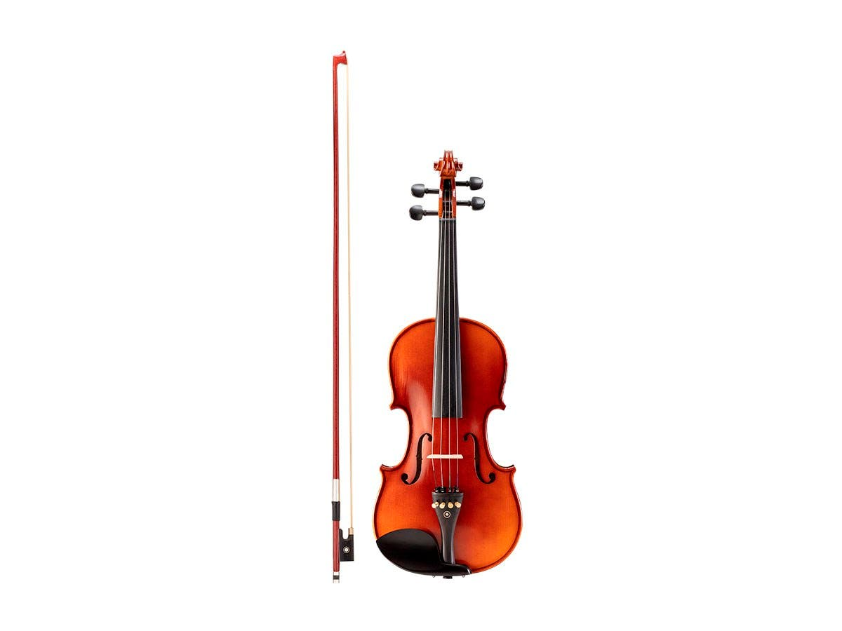 Stage Right Sonata by Monoprice 4/4 Flamed Maple Violin Outfit with Music Stand, Violin Stand, Case, Bow, and Rosin - main image