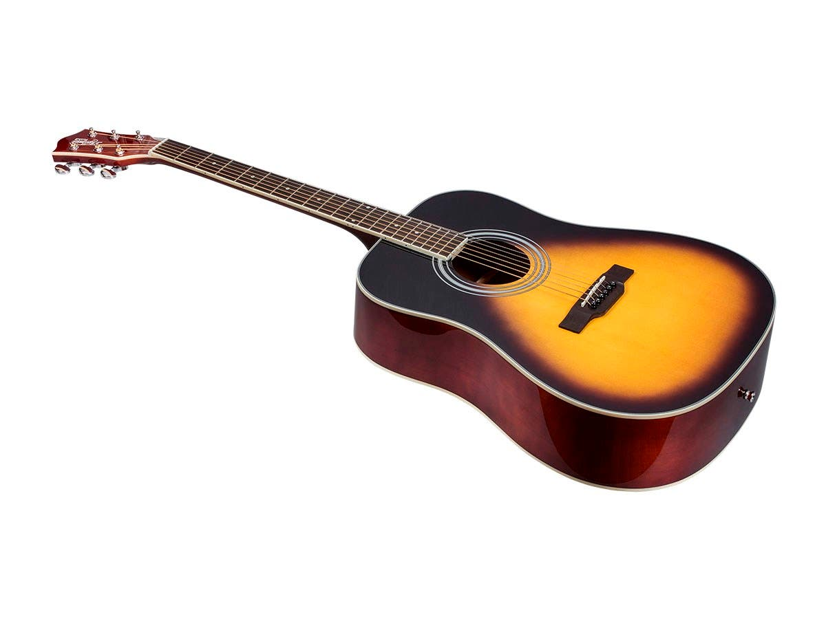 Idyllwild Foothill Acoustic Guitar with Gig Bag Vintage, Sunburst