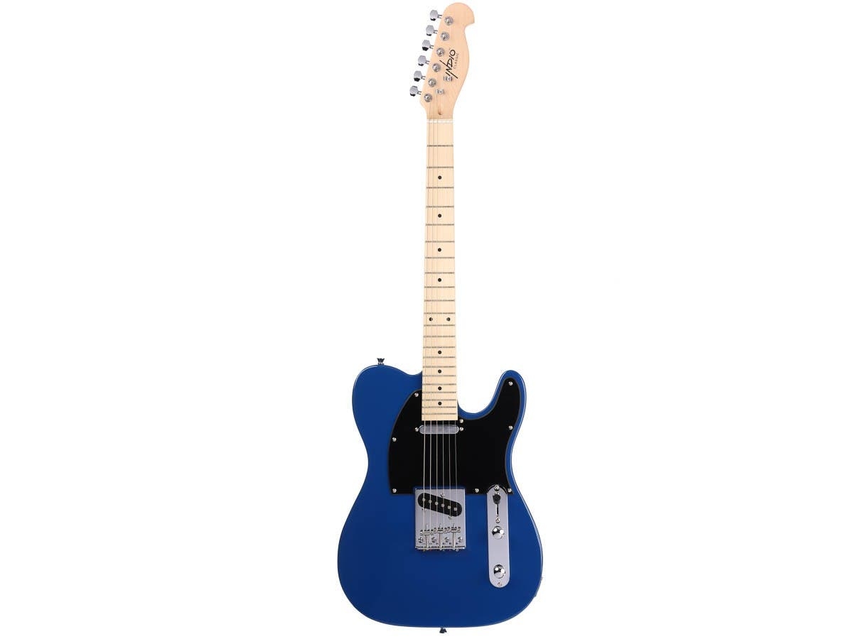 3bb42f4a48 Monoprice Indio Retro Classic Electric Guitar with Gig Bag,  Blue-Large-Image-