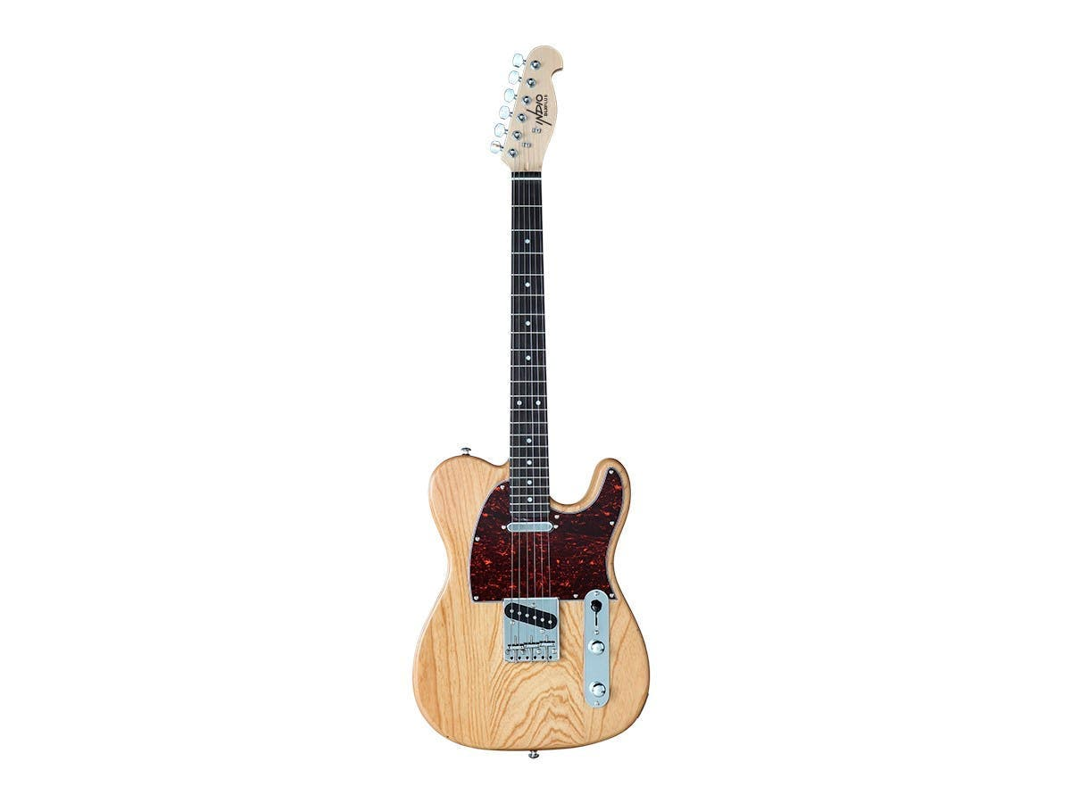 Indio by Monoprice Retro DLX Plus Solid Ash Electric Guitar with Gig Bag - main image