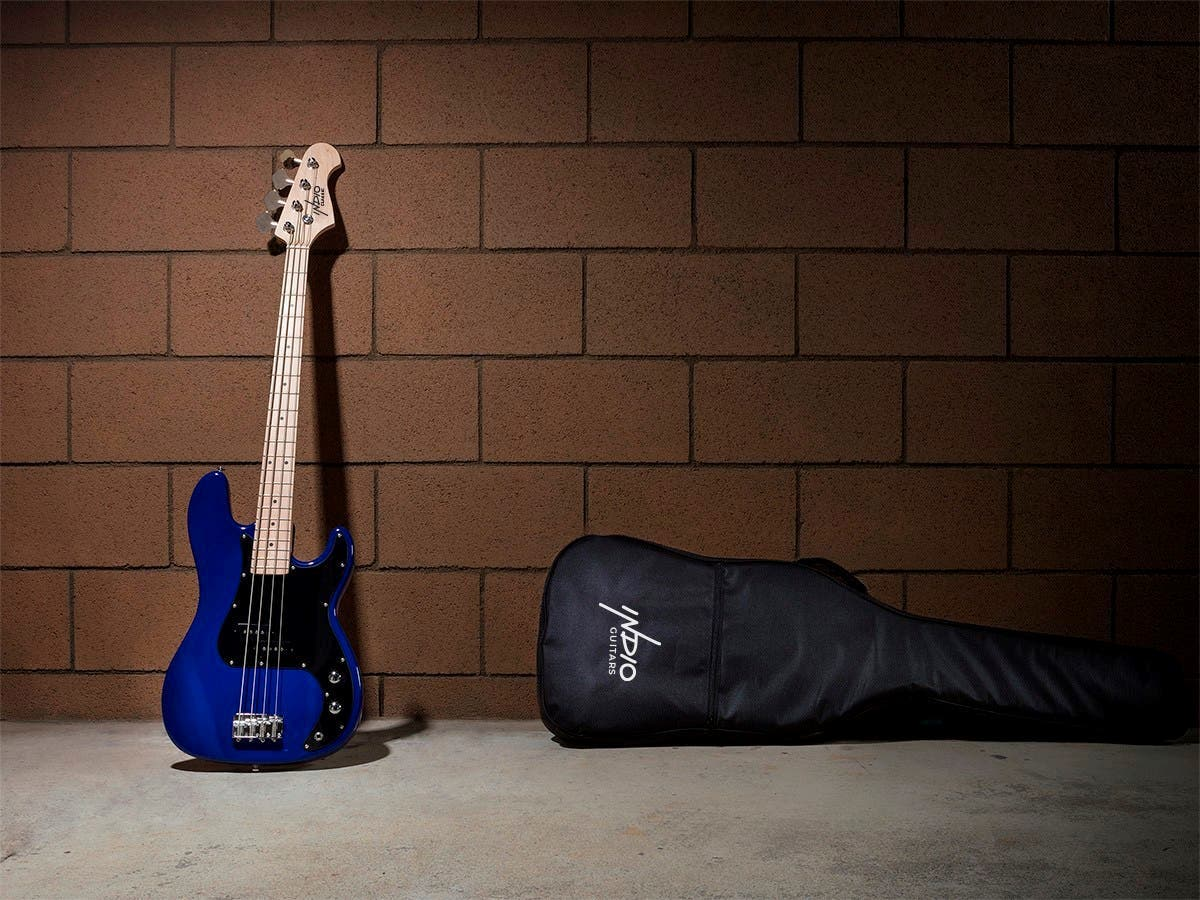 Blue Monoprice Indio Pubb Bass With Gig Bag