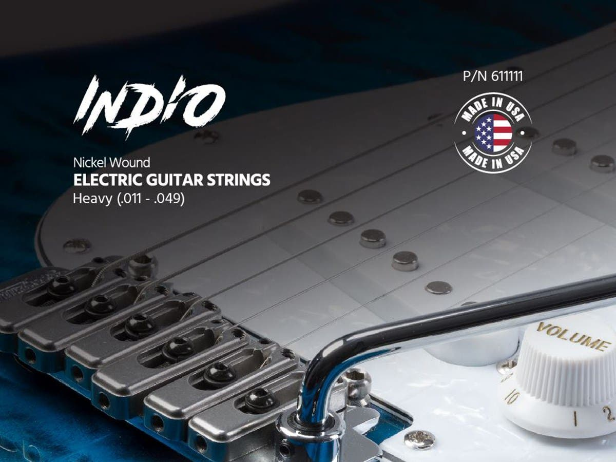 Monoprice Indio Electric Nickel Wound Guitar String Set Made in America Heavy (.011-.049)-Large-Image-1