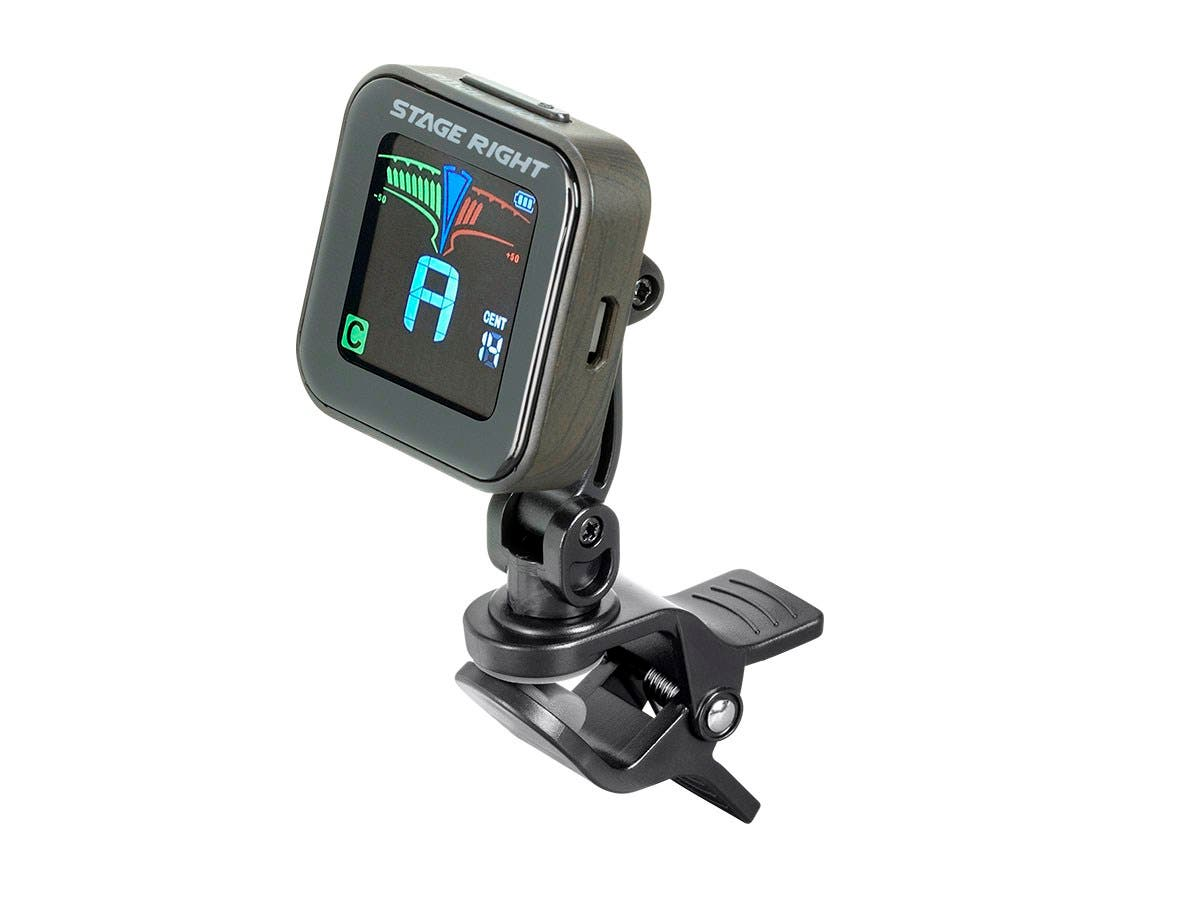 Stage Right Rechargeable Chromatic Clip-on Guitar Tuner-Large-Image-1