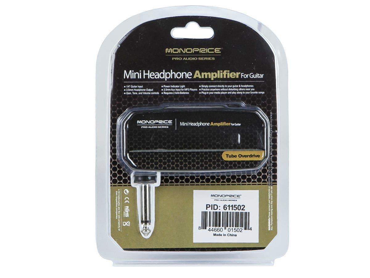 monoprice mini headphone amplifier for guitar tube overdrive. Black Bedroom Furniture Sets. Home Design Ideas