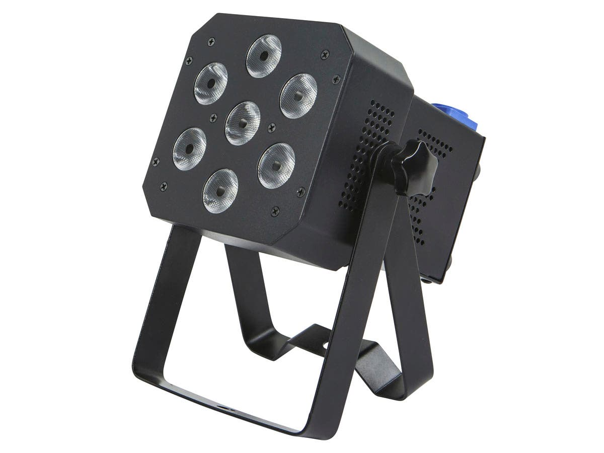Stage Right by Monoprice Super-Bright, 12-watt x 7 LED PAR Stage Light (RGBAW-UV)-Large-Image-1