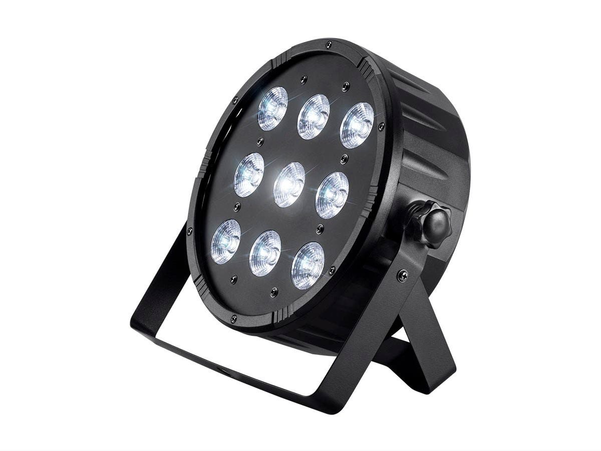 Stage Right by Monoprice 10-watt x 9 LED Flat PAR Stage Light (RGBW)-Large-Image-1