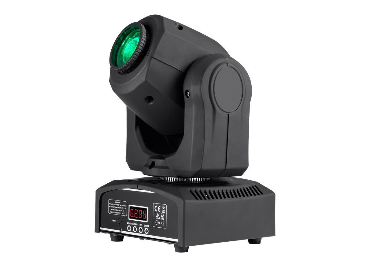 Stage Right by Monoprice Stage Beam 30 Watt LED Moving Head Light with 7 Colors and Gobos plus Open-Large-Image-1