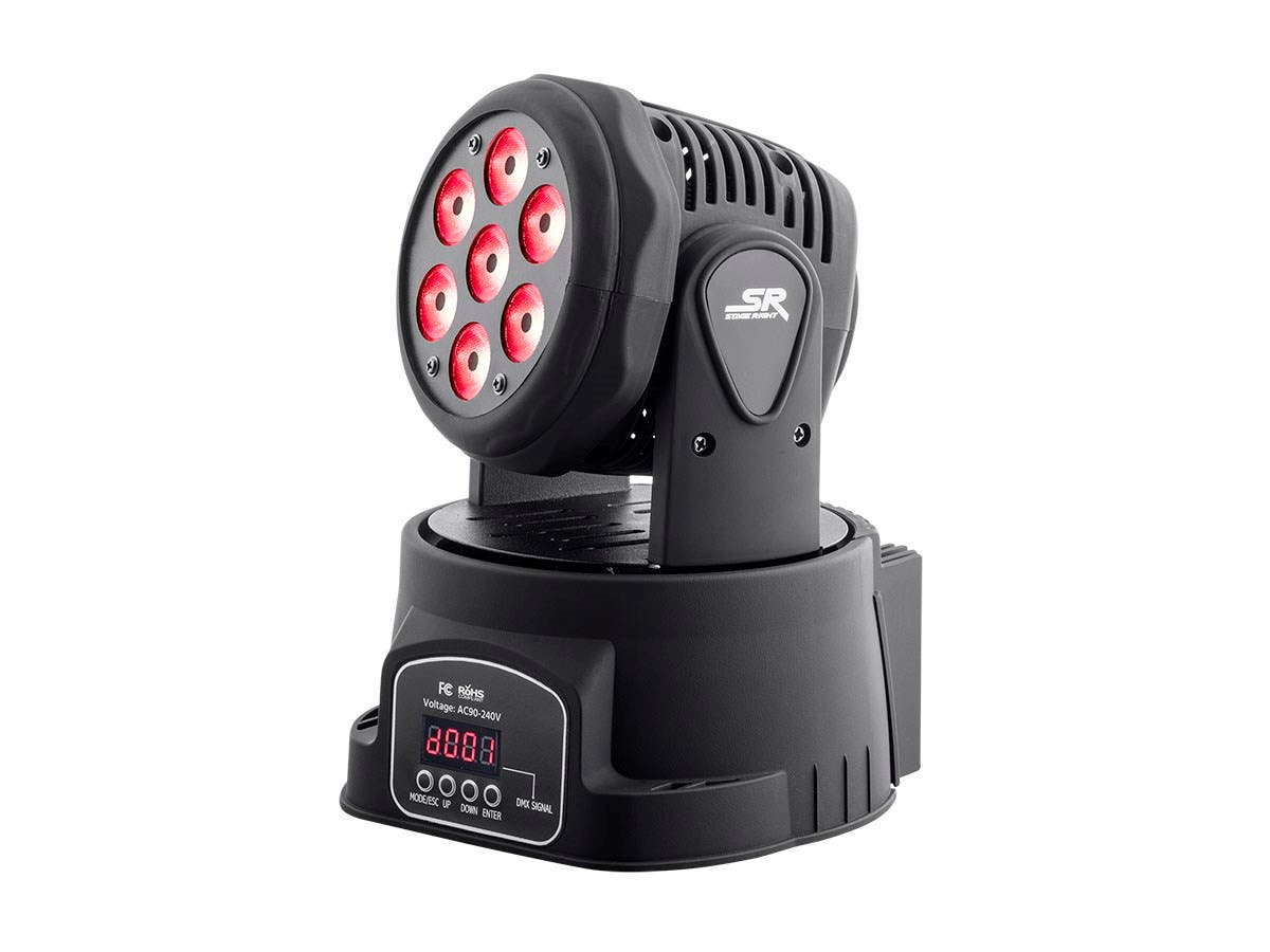 Stage Right by Monoprice Stage Wash 7 x 10W LED Moving Head (RGBW)-Large-Image-1