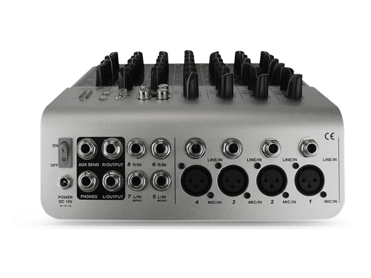 8 channel audio mixer with usb. Black Bedroom Furniture Sets. Home Design Ideas