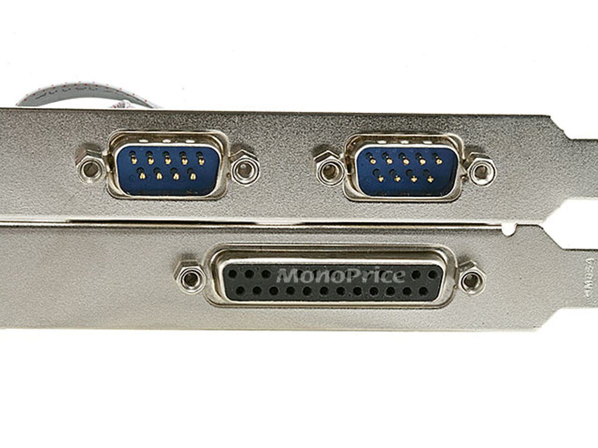 Monoprice pci express 2x dual rs 232 serial port and 1x parallel port card moschip chipset - Parallel port and serial port ...