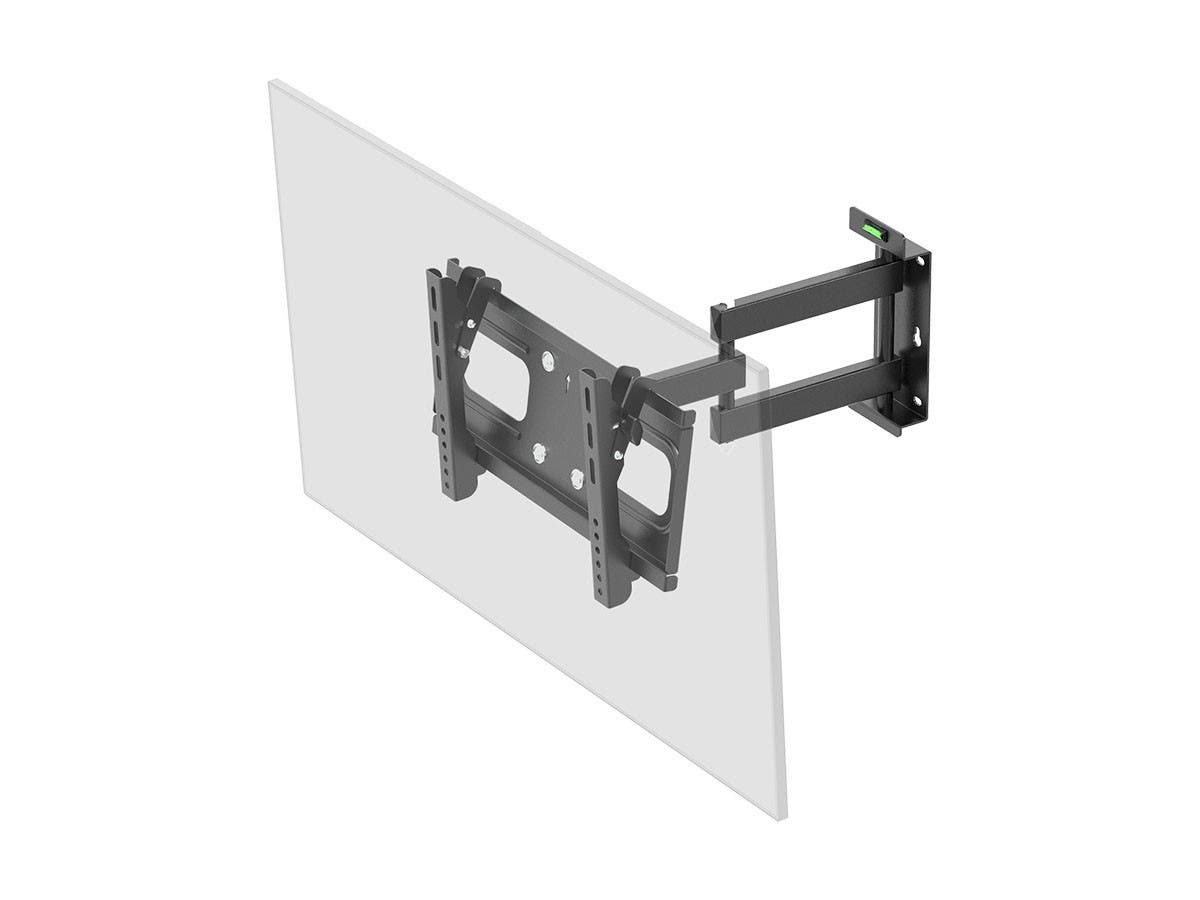 Monoprice Full-Motion Articulating TV Wall Mount Bracket for TVs 32in to 55in, Max Weight 88 lbs, Extension Range of 3.8in to 18.7in, VESA Patterns Up to 400x200, Works with Concrete & Brick-Large-Image-1
