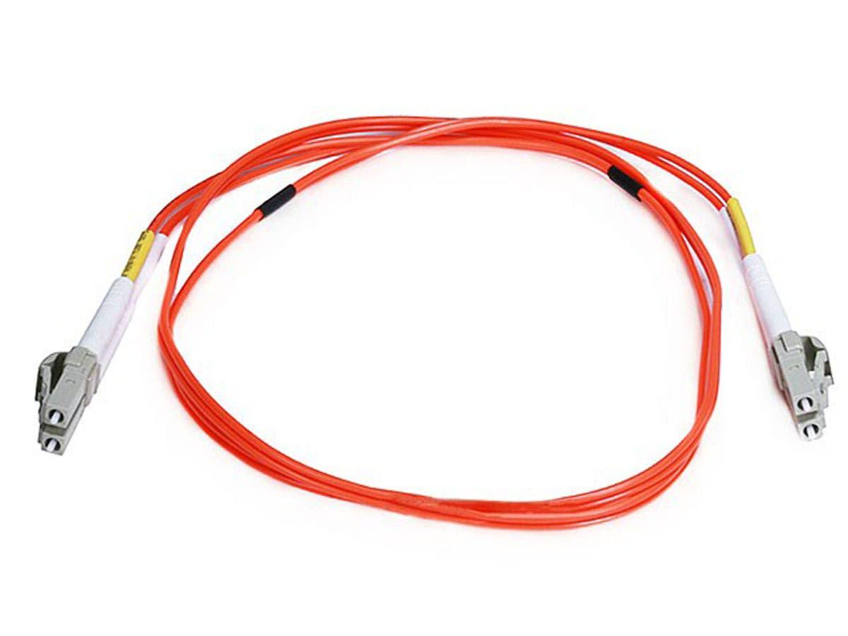 Fiber Optic Cable, LC/LC, OM2, Multi Mode, Duplex -  1 meter (50/125 Type) - Orange