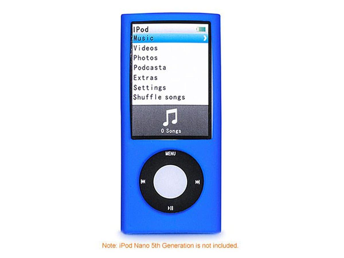 Silicone Skin Case for iPod Nano 5th Generation 5G, Blue