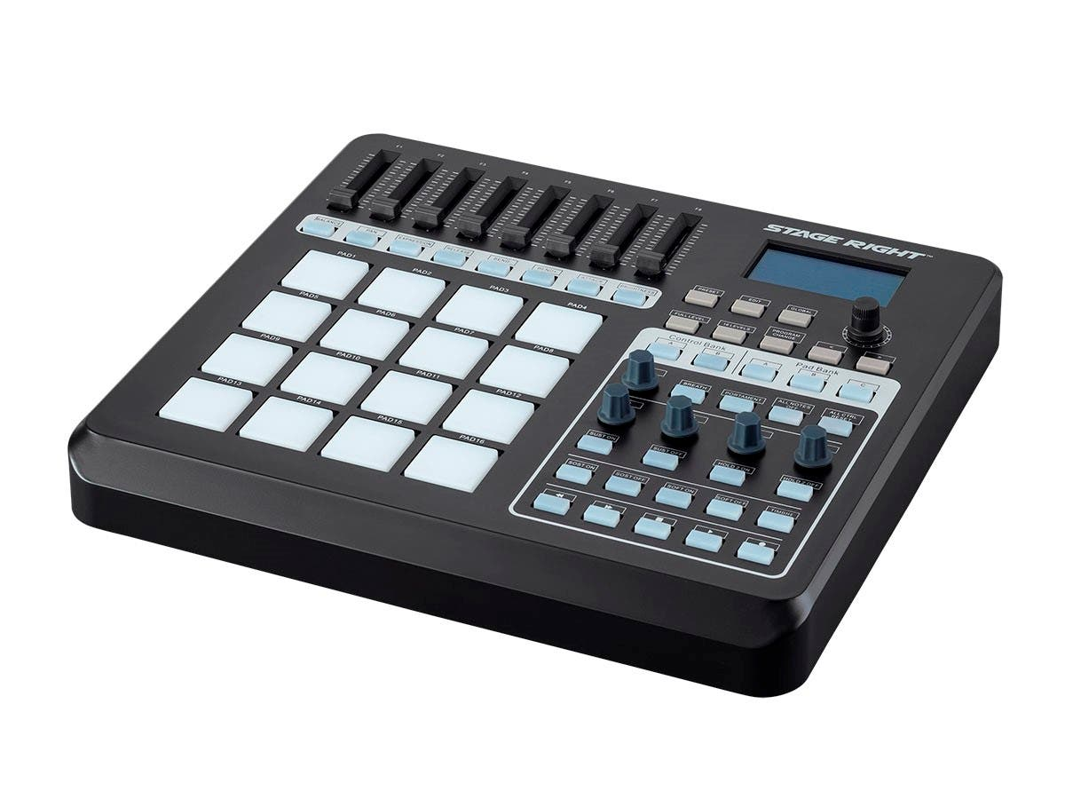 Stage Right by Monoprice SRP200 USB Pad Controller with 16x RGB Velocity-Sensitive Pads and 8x Sliders - main image