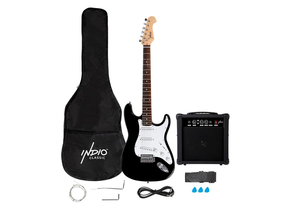 Indio by Monoprice Cali Complete Electric Guitar Package with Amp and Accessories - main image
