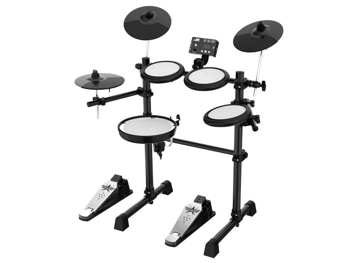 Stage Right by Monoprice 5-piece Electronic Drum Kit with Mesh Heads and 8in Double Trigger Snare - main image