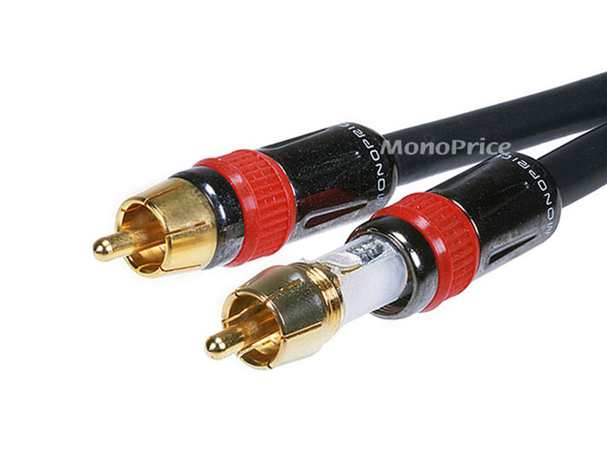 6in RCA Female to 2x RCA Male Digital Coaxial Splitter Adapter ...