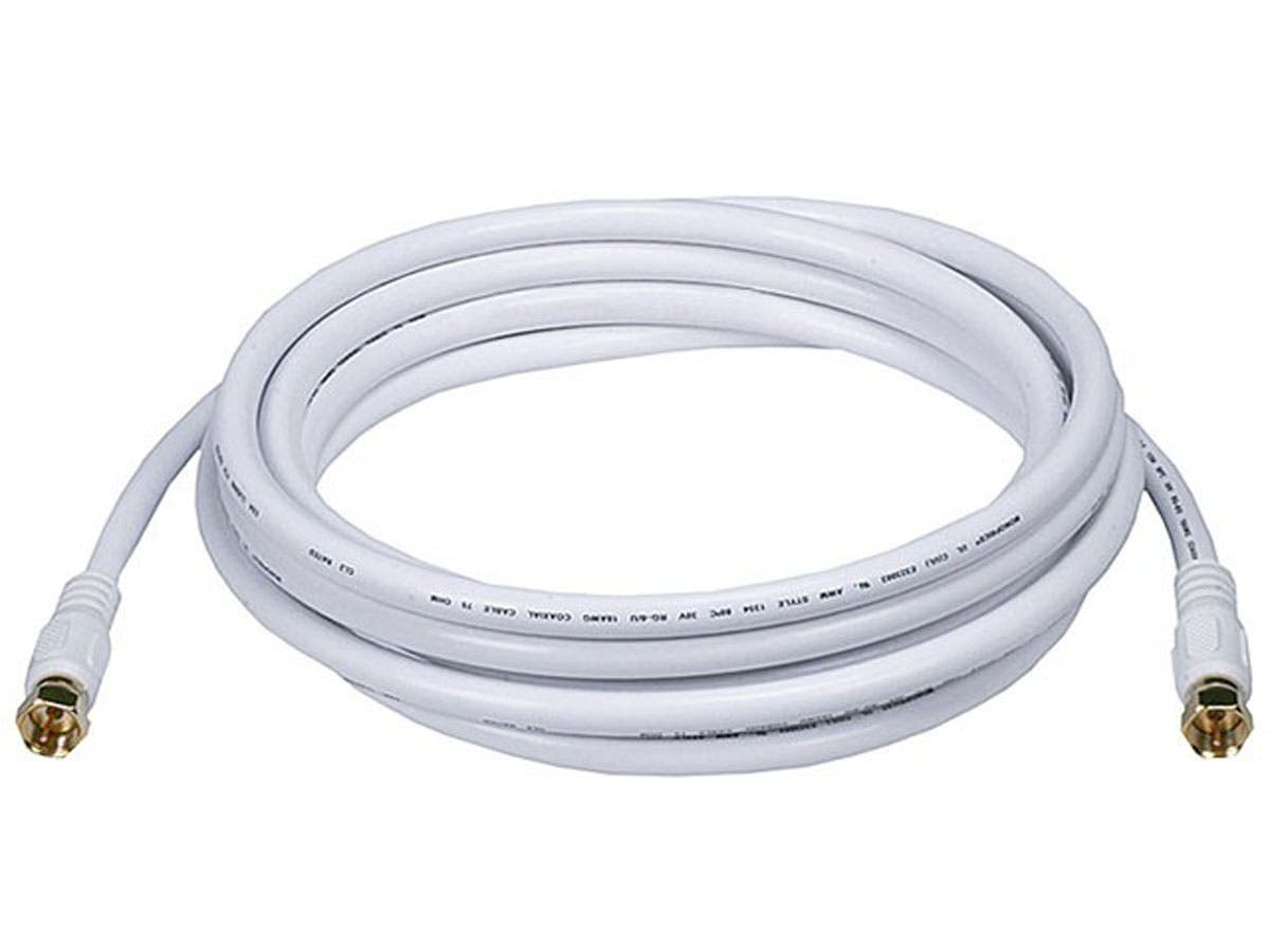 Rg6 Coaxial Cable : Monoprice ft rg awg ohm quad shield cl coaxial