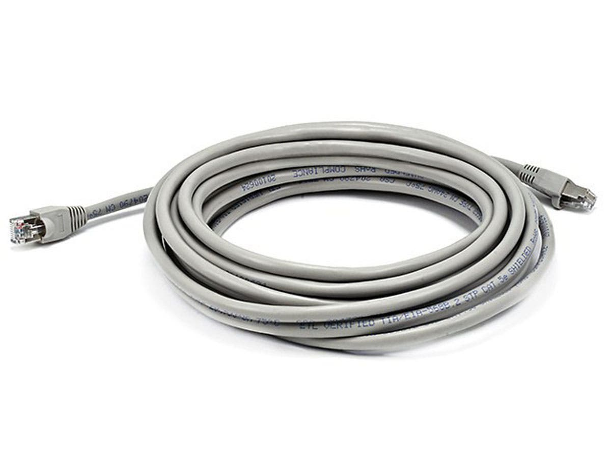 Monoprice 7FT Cat5e 350MHz Crossover Ethernet Network Cable Gray