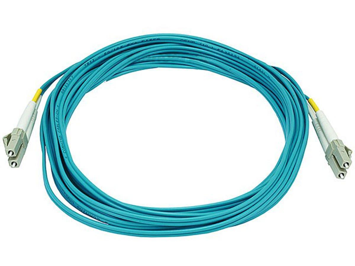 10Gb Fiber Optic Cable, LC/LC, Multi Mode, Duplex - 5 Meter (50/125 Type) - Aqua