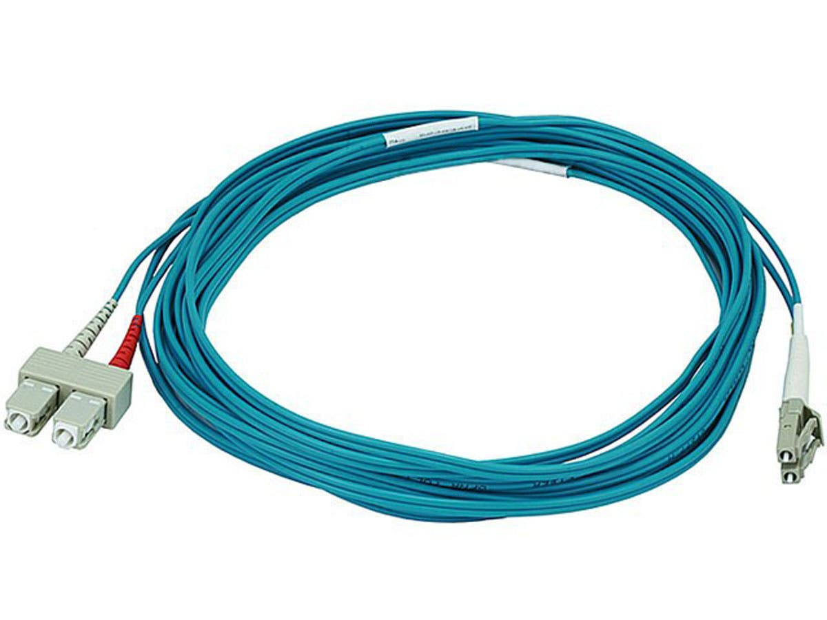 Monoprice Fiber Optic Cable Lc To Sc Om3 50 125 Type Multi Mode Internet Wiring